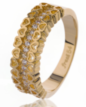 Schitterende ring 18K Goldplated